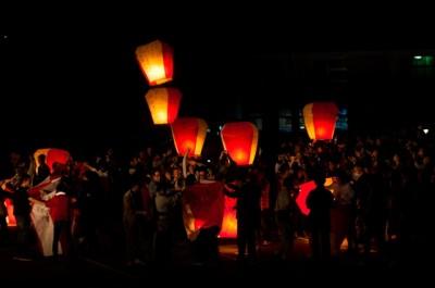 台北天燈上げイベント8